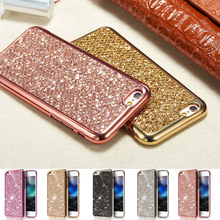 Hipzip Luxury Glitter Bling Case For iphone X 10 Ten 8 7 6 6S 5 5S SE Case Fashion Cover Shining Powder Phone Protector Coque