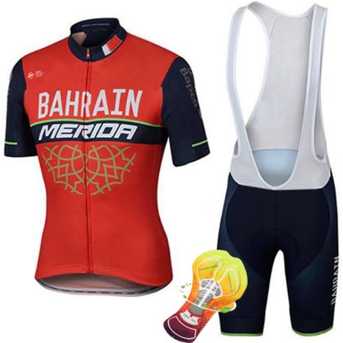 2017 neue Sommer Kurzarm Radfahren Jersey Schnell Trocknend Team Bahrain/Lampre MERIDA Ropa Ciclismo Schnelle Trockene Kleidung