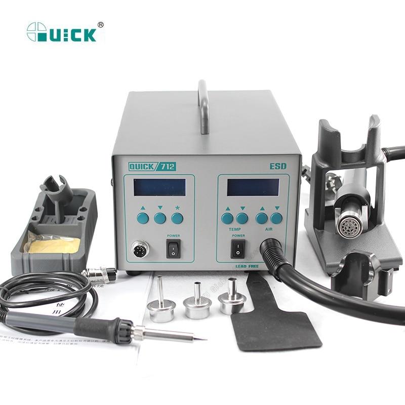 Quick 861DW Soldering Digital Rework Station Lead-free Hot Air Gun Repair Tools