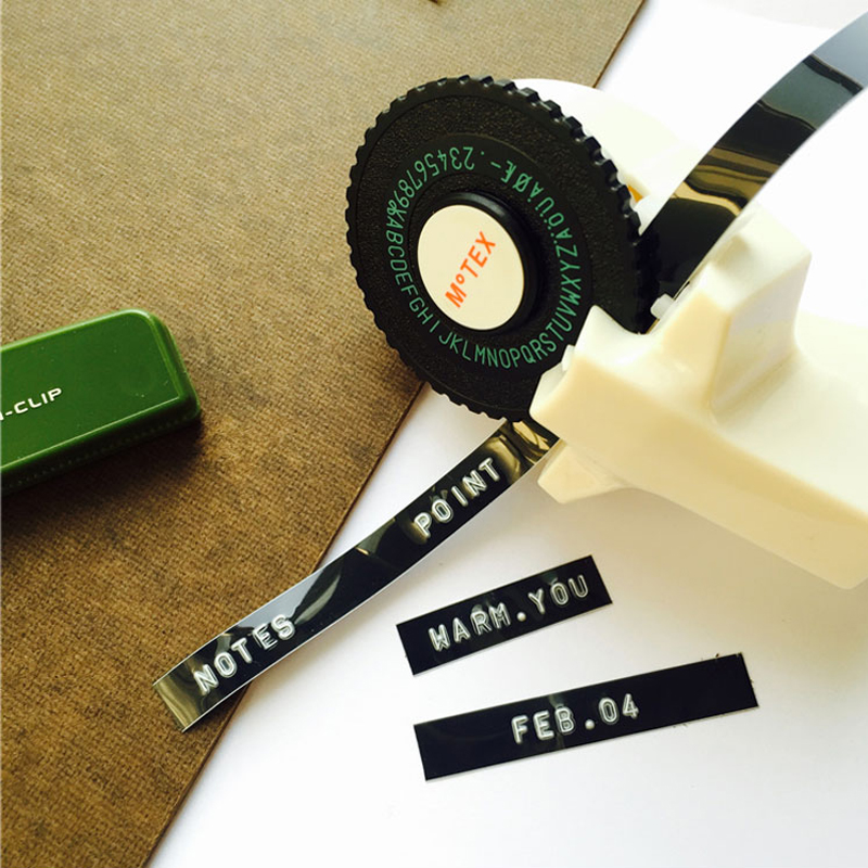 11.11 motex label maker Manual typewriter DIY cutting embossing tag machine tape decoration scrapbooking Korean stationery