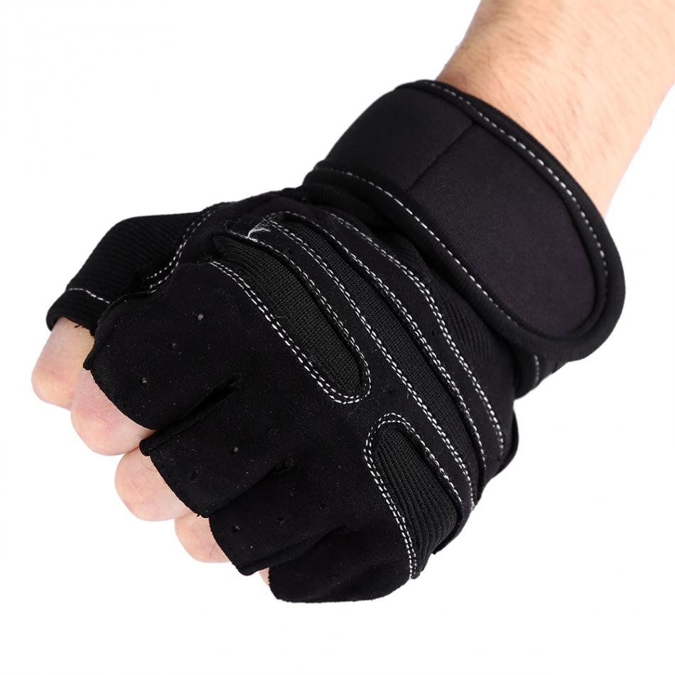 Weight Lifting Gym Gloves Training Fitness Wrist Wrap: Sports Fitness Weight Lifting Gym Gloves Heavyweight