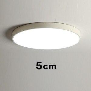 Image 5 - Schwarz Weiß Moderne Led Kronleuchter Acryl Runde Kronleuchter Decke Für Wohnzimmer Bett Zimmer Küche Ultra dünne Leuchte