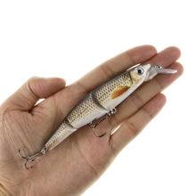 Multi articulado lifelike minnow isca de pesca 12cm 16.5g swimbait wobblers isca de baixo pique muskie poleiro peixe isca chocalho