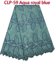 Hot sale 100% cotton lace fabric in lilac,high quality African lace fabric CLP-59
