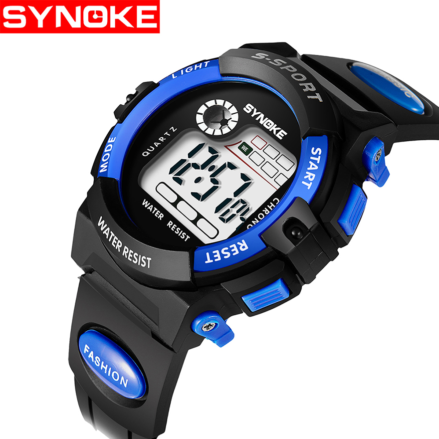 Capable Synoke Sport Student Children Watch Kids Boys Girls Watches Male Clock Child Led Digital Electronic Wristwatch For Boy Girl Gift In Many Styles Watches