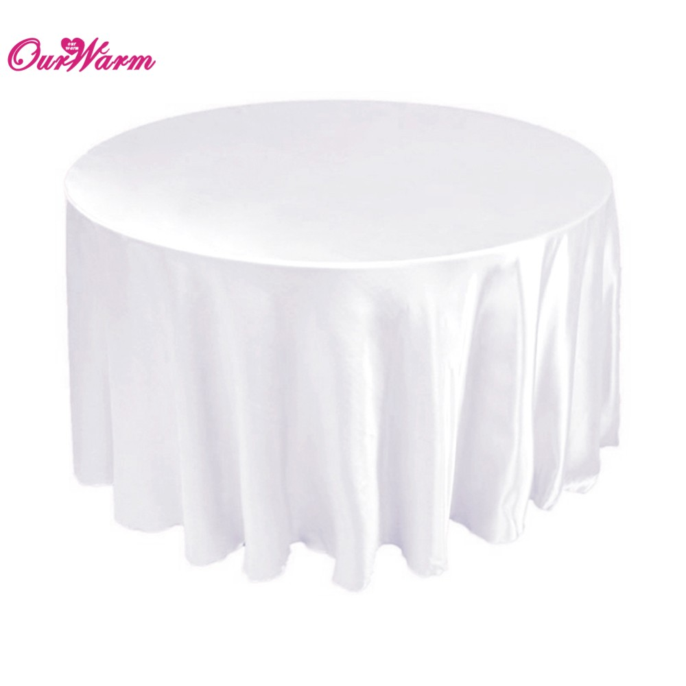 10 pcs nappes pour les mariages table 90 polyester nappe ronde couvre table de fte - Nappe Ronde Mariage