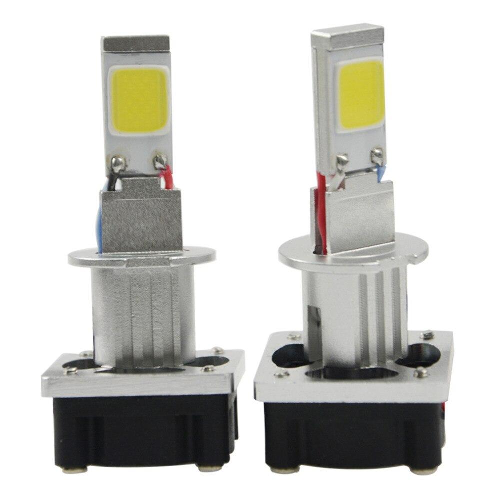 ICOCO 2Pcs Aluminium Alloy 6500-7000K Pure White 12 - 30V 90W 9000LM Car Driving LED Headlight Bulbs Kit H1 Hi/Lo Beam Lamps