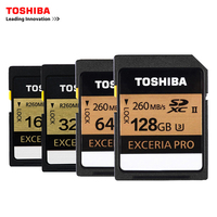 Toshiba SD Memory Card UHS II 16Gb 260MBs 32GB SDHC Card SD 64GB SDXC Card Flash