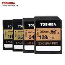 Toshiba u3 260mbs uhs-ii 16 gb karty pamięci sd 32 gb sdhc karty sd 64 GB SDXC Karty Flash 128G U3 Dla LUSTRZANKA Cyfrowa Kamera wideo DV