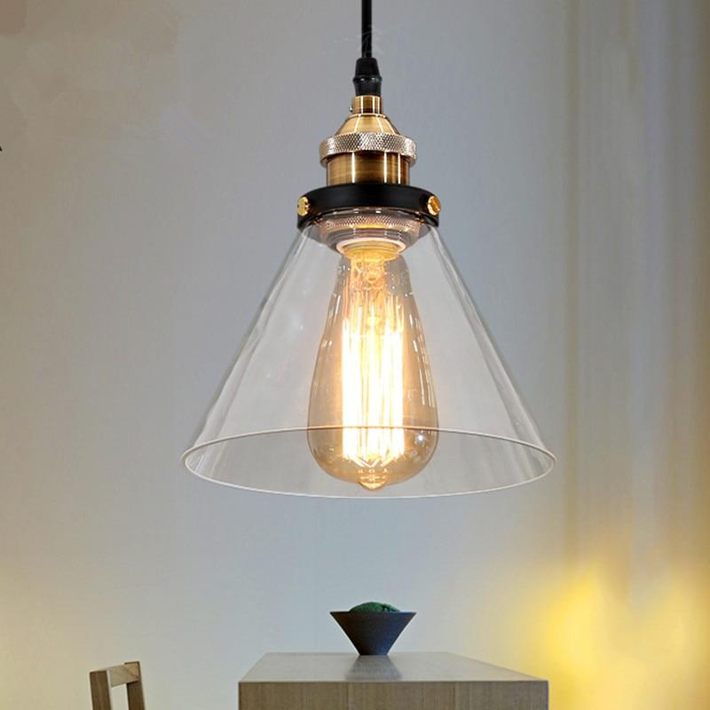 Vintage Pendant Light Glass Pendant Lamp Kitchen hanglamp Fixtures Dining Room Home Lighting luminaria retro industrial