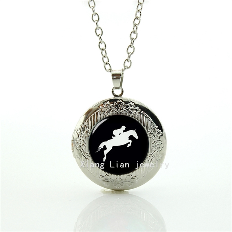 2017 Maxi Necklace Hot Sale Brand Design Horse Race Derby Day, Equestrian , Horseback Riding Personalized Locket Necklace T783