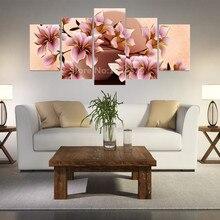 Kein Rahmen 5 Stcke Leinwand Malerei Blumenmalerei Orchideen Wand Home Decor Foto Wandbilder Kunst Fr Wohnzimmer In Gnst