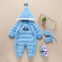 Thickening Warm Winter Baby Romper 2017 New Cute Baby Boys Girs Jumpsuit Hooded Baby Clothing Windproof Overall