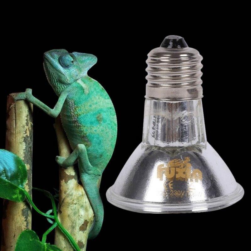 E27 220V 100W Basking Lamp Reptile Bulb Heat Light Pet ...