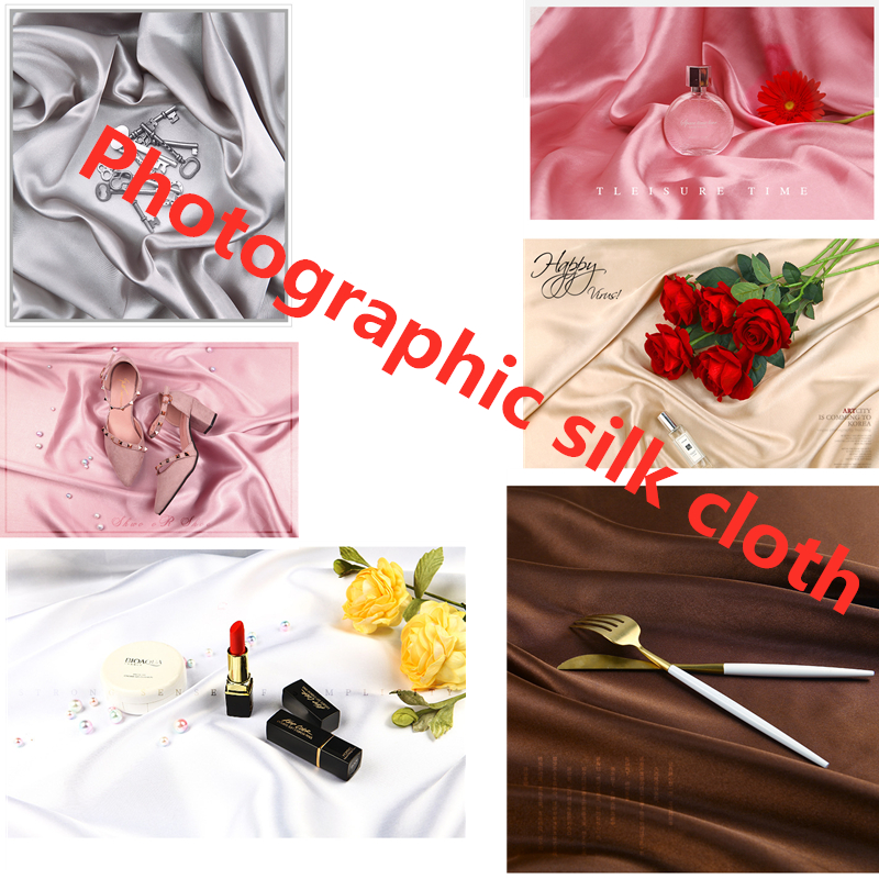 <font><b>150*100</b></font> photography studio photo silk Mercerized cloth photography background cloth Fotografia for Cosmetic Tools Ring Jewelry image