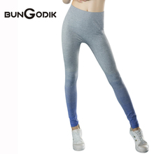 2017 Gym Leggings Sport Suit Wicking Trousers Women Sports Tights Fitness Legging Capris Ropa Deportiva Lady Yoga Pant Running