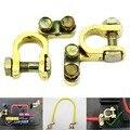 New 2 Pcs Substituição Car Auto Bateria Terminal Grampo Clips Conector de Bronze