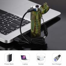Yooap double arc USB rechargeable flashlight lighter for smoking barbecue outdoor camping windproof seal waterproof light
