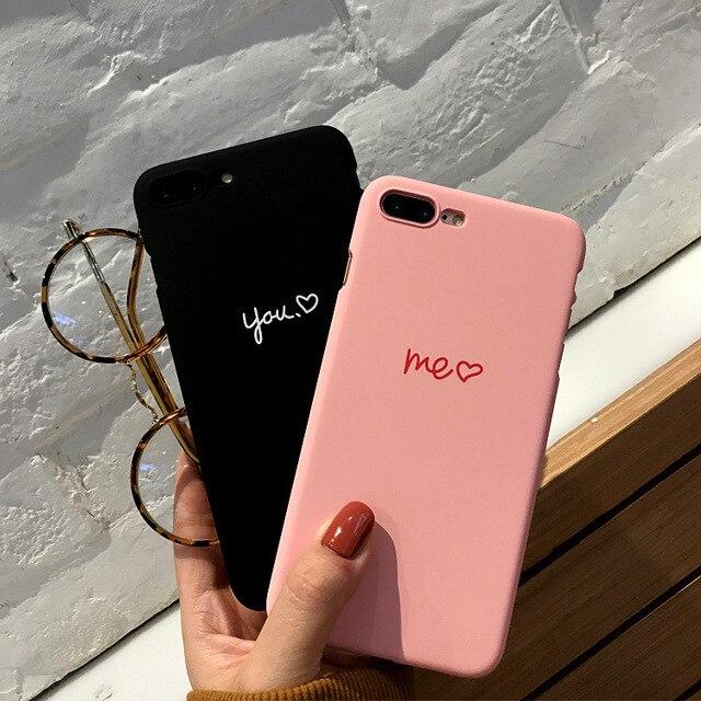 Funda para iphone 6 7 6s 6 S 5 5S para iphone XS Max XR X 7 8 Plus funda de pareja de Manzana Rosa negro amor
