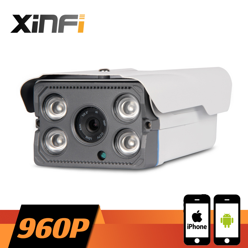 XINFI 1280*960P CCTV IP camera night vision Outdoor Waterproof network P2P HD CCTV camera 1.3 MP ONVIF 2.0 PC&Phone remote view
