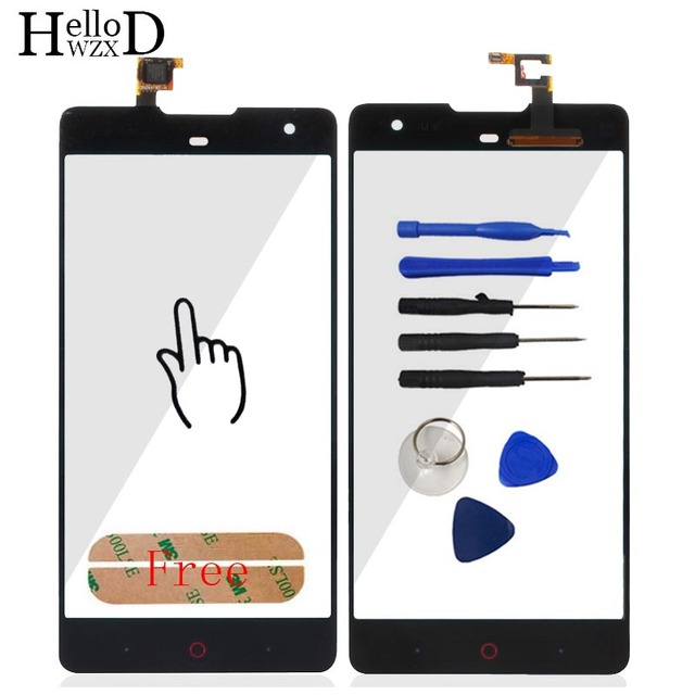 A+++ Touchscreen Lens Sensor Front Glass High For ZTE Nubia Z7 MAX NX505J Touch Screen Digitizer Glass Panel Adhesive TrackNo