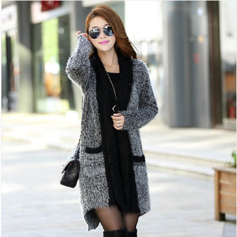 2016 New font b Fashion b font Hot Sale Autumn Winter Female Knitted Sweater Dress Knitwear