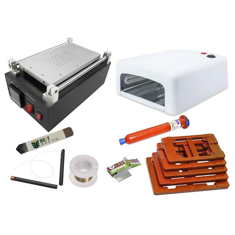 LCD Kit De Réparation Chauffe-séparateur LY Youyue kit De Réparation pour LCD affichage de la marque 13 outils de Démontage Téléphone Réparation Machine