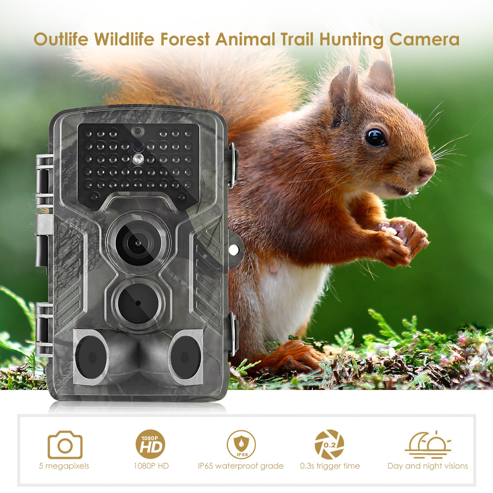 Outlife HC - 800G 1080P HD Hunting Trail Camera 16MP 3G 940nm Infrared Night Vision Camera Scouting MMS/SMTP Wildlife Camera
