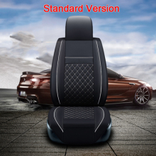 (Front+Rear) High quality leather universal car seat cushion seat Covers for Volkswagen golf 4 5 6 7 passat auto seat protector