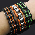 Cool Heavy Men Biker Bicycle Motorcycle Link Chain Men's Bracelet & Bangle Fashion Punk Stainless Steel Jewelry BB1345