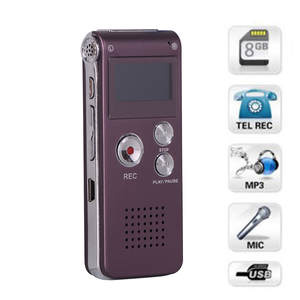 Dictaphone Player Record HIPERDEAL Sound DIGITAL Mini Rechargeable 8GB MP3 Apr16 Steel