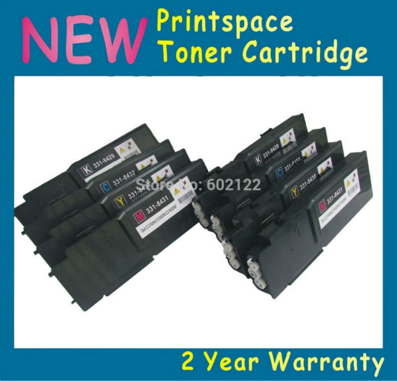 8x NON-OEM Toner Cartridges Compatible for Dell C2660 C2660dn C2660dnf C2665 C2665dn C2665dnf 6k/4k цены онлайн