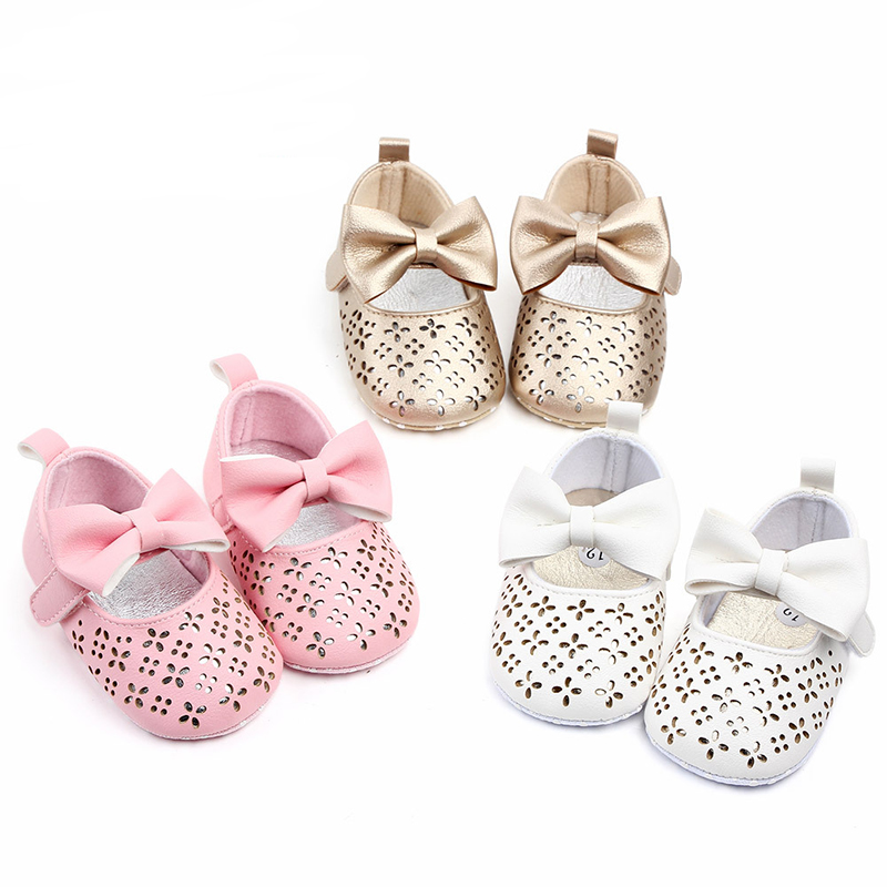 Fashion Baby Shoes For Newborn Baby Girl First Walker Infant Big Bow Princess Wedding Party Shoes Summer Soft Soles Shoes
