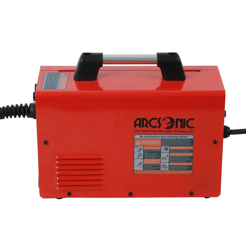 IGBT gaz/bez gazu MIG155 Mig spawacz 220V drut topnikowy spawarka stalowa przenośny DC 2 w 1 spawanie Mig spawanie mma