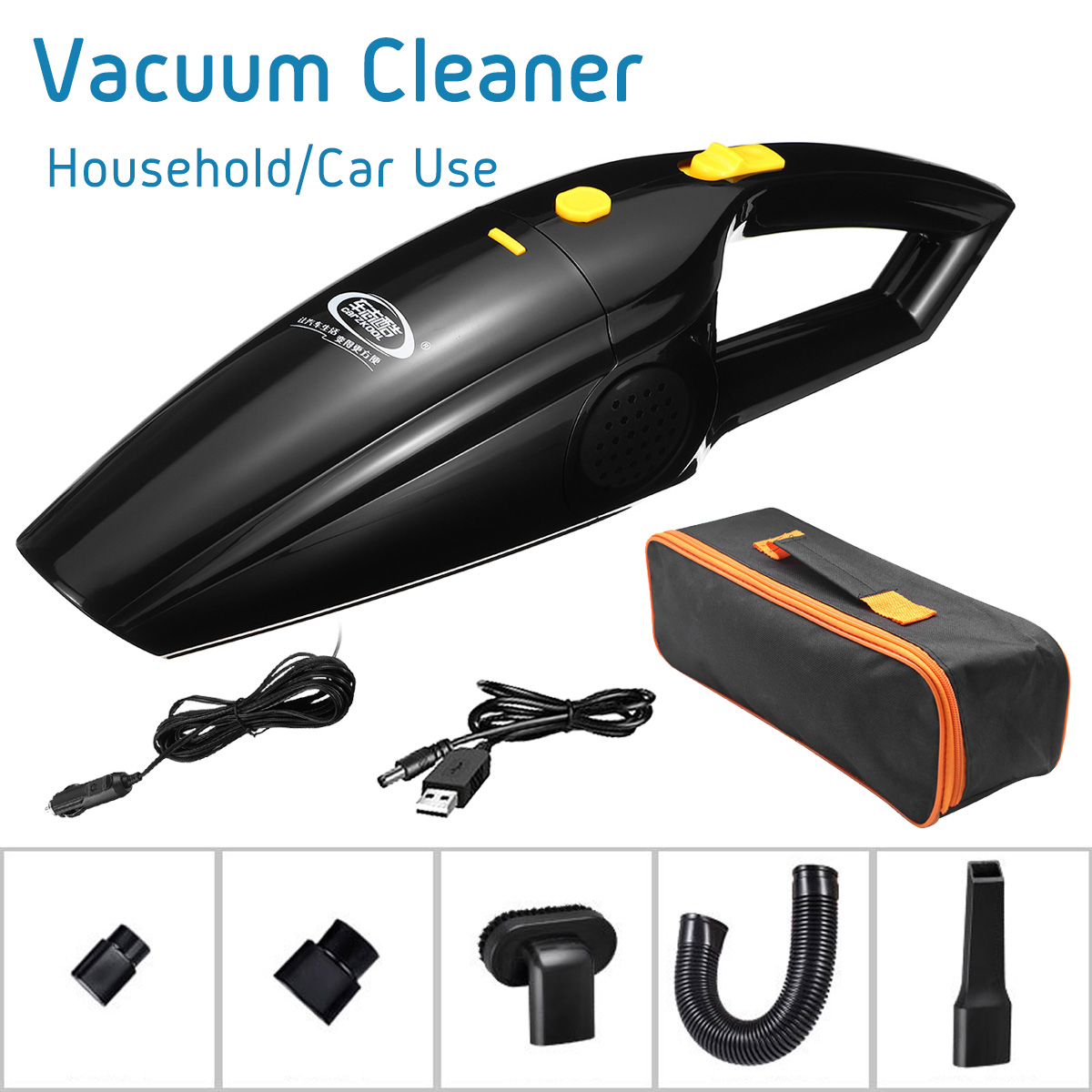 120W Handheld Portable Home Car Vacuum Cleaner Cordless Cord Wet And Dry Dual Use Auto Vacuum Asur With Carrying Bag