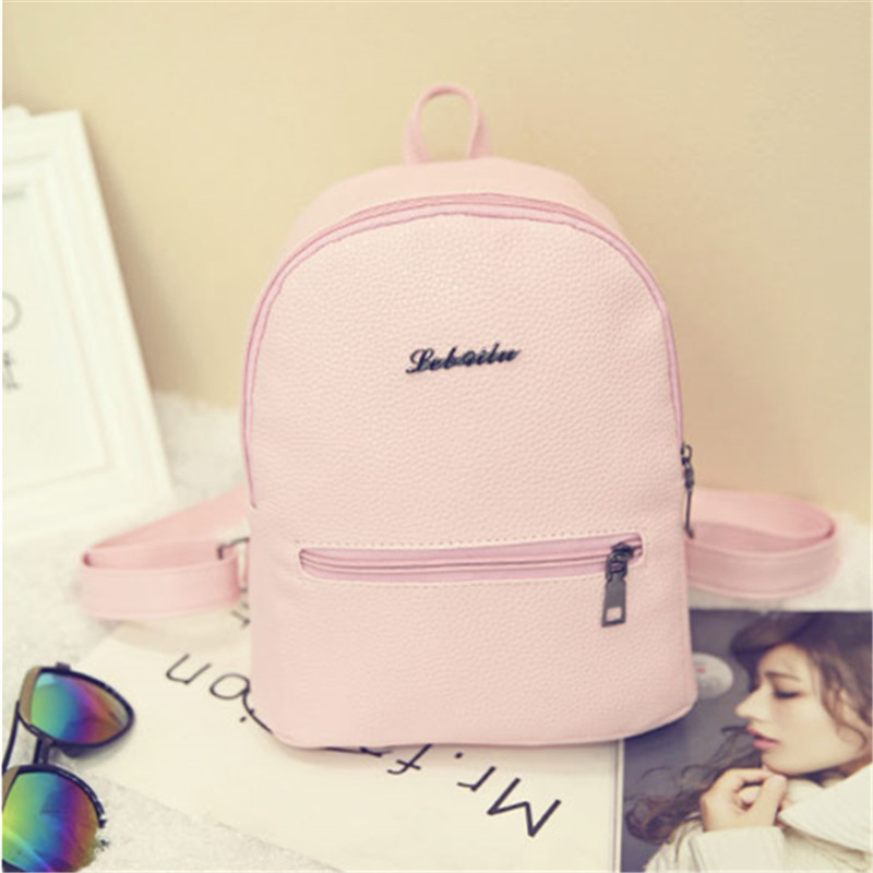YBYT brand 2017 new candy color preppy style rucksack hotsale student bookbags ladies shopping pack travel bags women backpacks