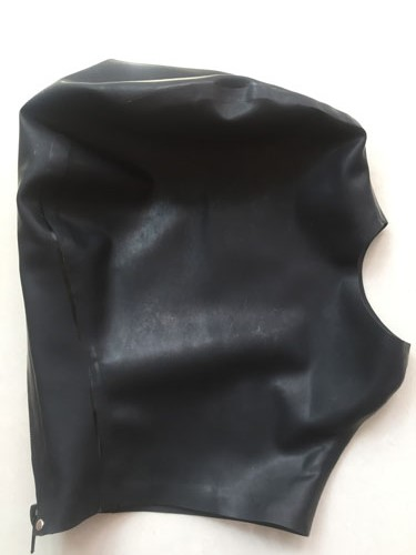 ФОТО Adult Stuff Latex hood mask 100% pure natural latex fetish zentai handmade Solid Black with back zipper Hot Sale Fast Delivery