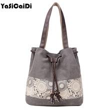Floral Canvas Casual Shoulder Bag