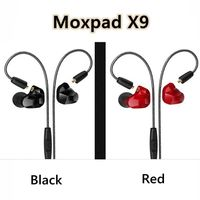 2017 New Arrival Professional Moxpad X9 Pro Dual Dynamic Driver In Ear Sport Earphones With Mic