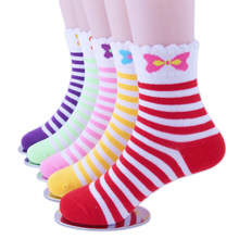5Pairs/Lot Baby Girls Socks Cartoon autumn and winter Children Sock Breathable Cotton Kid For  1-12 Years