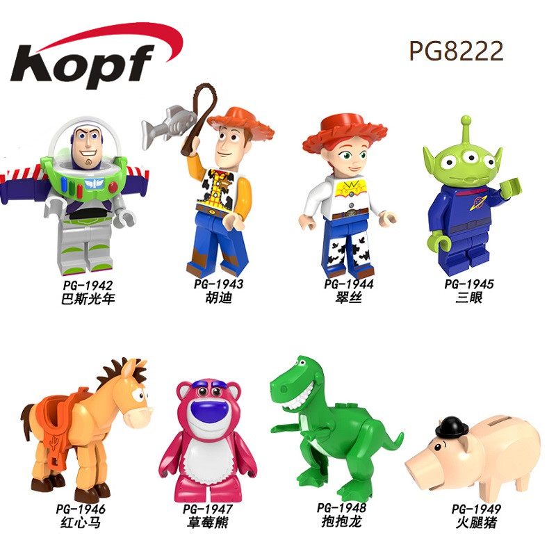 Building Blocks Pumping Toy Story Cartoon Woody Jessie Buzz Lightyear Roundup Action Figures For Children Toys Gift PG8222