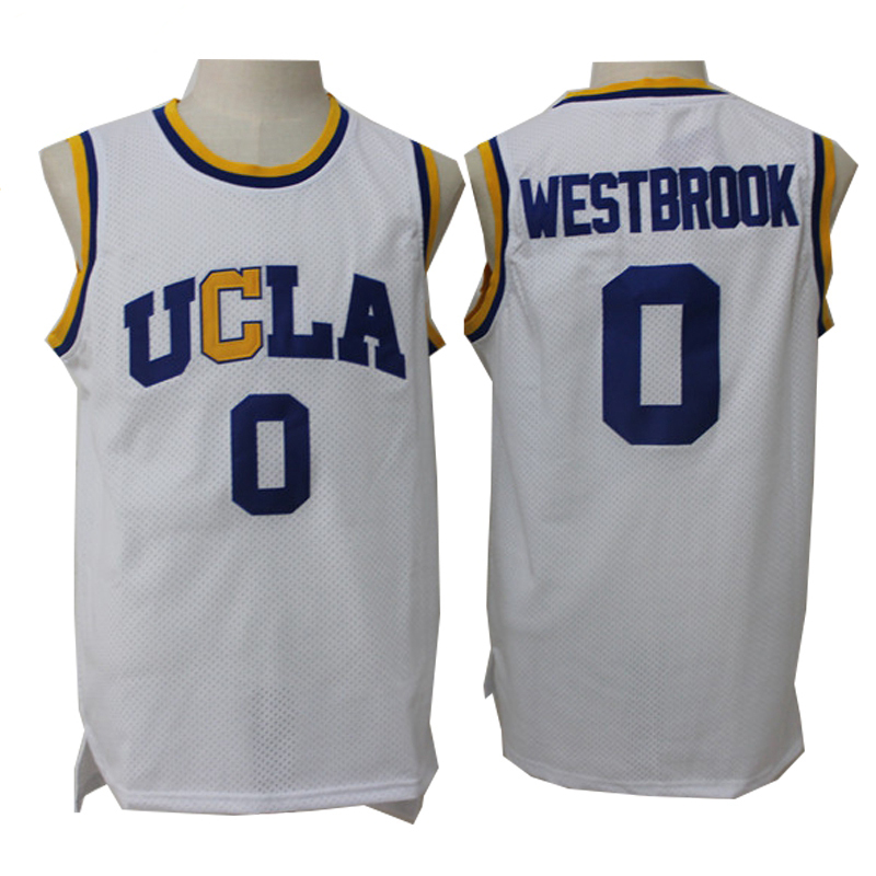 Russell Westbrook Jersey 0 UCLA Bruins College Basketball Jersey Mens Throwback Sport Shirt All stitched ...