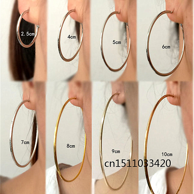 Big small Circle Hoop Earrings for women Fashion Europe America exaggerated styl