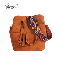 YBYT Brand 2017 New Vintage Casual Women PU Leather Bucket Composite Bag Ladies Shopping Pouch Shoulder