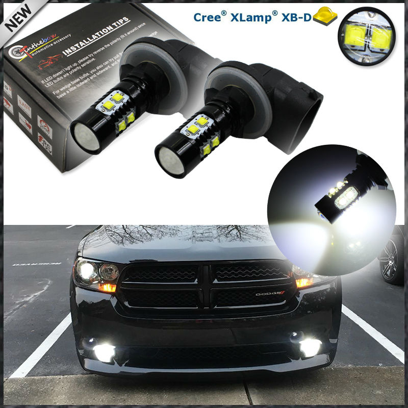 (2) Extremely Bright 50W CRE'E High Power 881 886 H27 LED Replacement Bulbs For Car Fog Lights Driving Lamps, Xenon White Color 2pcs xenon hid white 25w high power 5 xcree xp e chips 881 h27 pgj13 led fog light driving drl bulbs