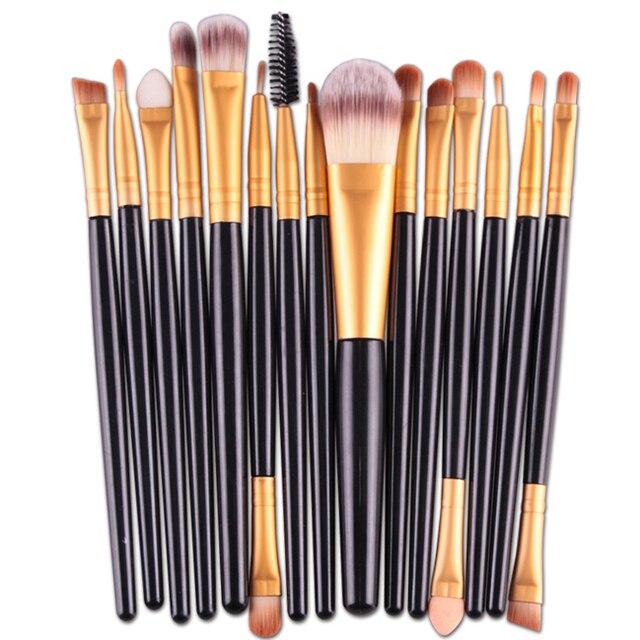 2019 nuevo de moda de las mujeres 15 unids/set sombra de ojos Fundación labios cejas maquillaje cepillo cepillos herramienta N4