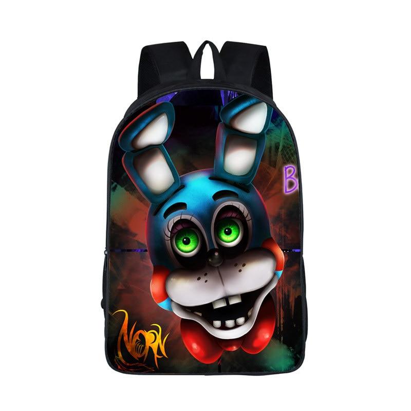 Boys Girls School Bags Five Nights  At Freddys Backpack For Teen Bonnie Fazbear Foxy Freddy Chica Backpack Backpacks Kids Bags