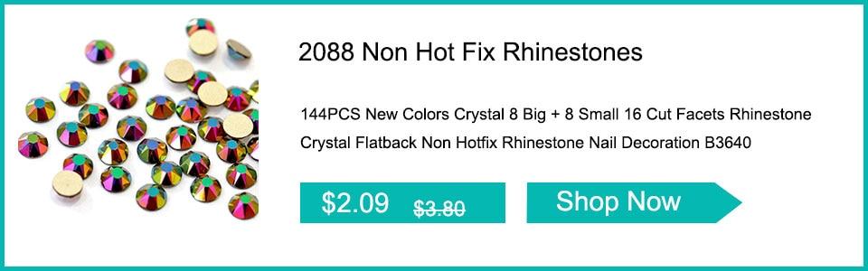1440Pcs New Popular Colors 8 Big + 8 Small 16 Cut Facets Rhinestone ... 3639d7d51de9