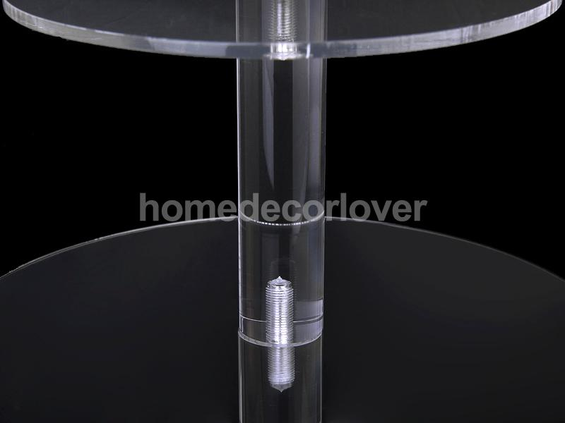 6 уровень акриловые круглый кекс стенд для свадьбы День рождения Baby Shower дисплей