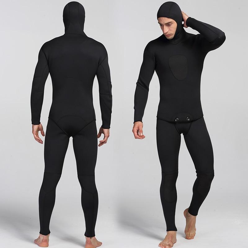 3mm Néoprène Plongée Costume Pour Hommes Natation Surf Saut Costume Revêtement Chaud Combinaison Jarretelles Pantalon Et Veste 2 pcs/ensemble
